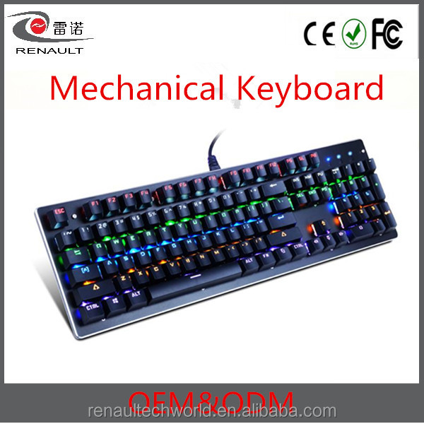 Professional Waterproof Multi-color Keycaps Russian Led Gaming Mechanical Keyboard