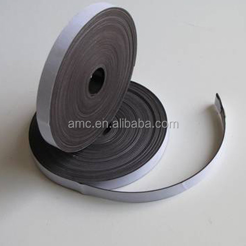 Adhesive coated soft flexible rubber magnet