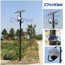 public park use tall round solar lights for garden led fence outdoor solar lamp