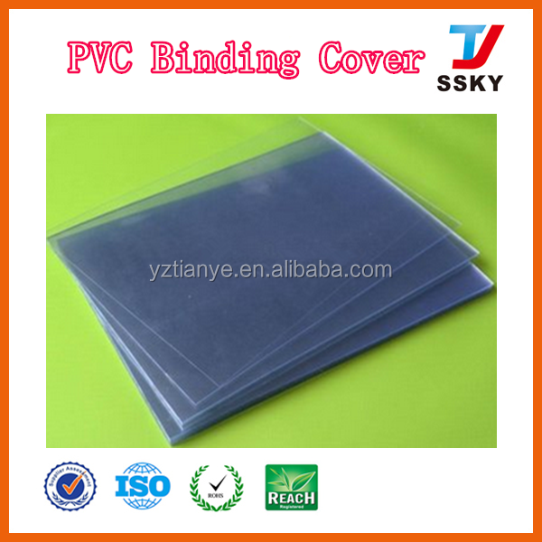 A4 hard clear pvc book cover transparent plastic pvc binding cover