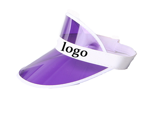 Custom Uv Protection Plastic Pvc Sun Visor Cap Wholesale