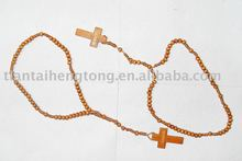 2016 Alibaba hot sale catholic rosary wood beads necklace