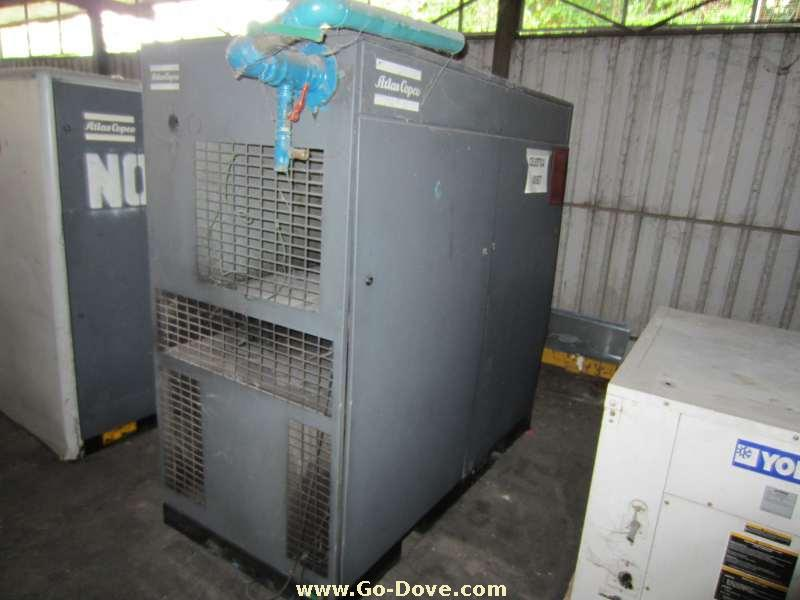 USED lots of Air Compressors (3), Dryers (3), Vacuum Pump (2), Exhaust Fan (7) & Outdoor Condensers (7)