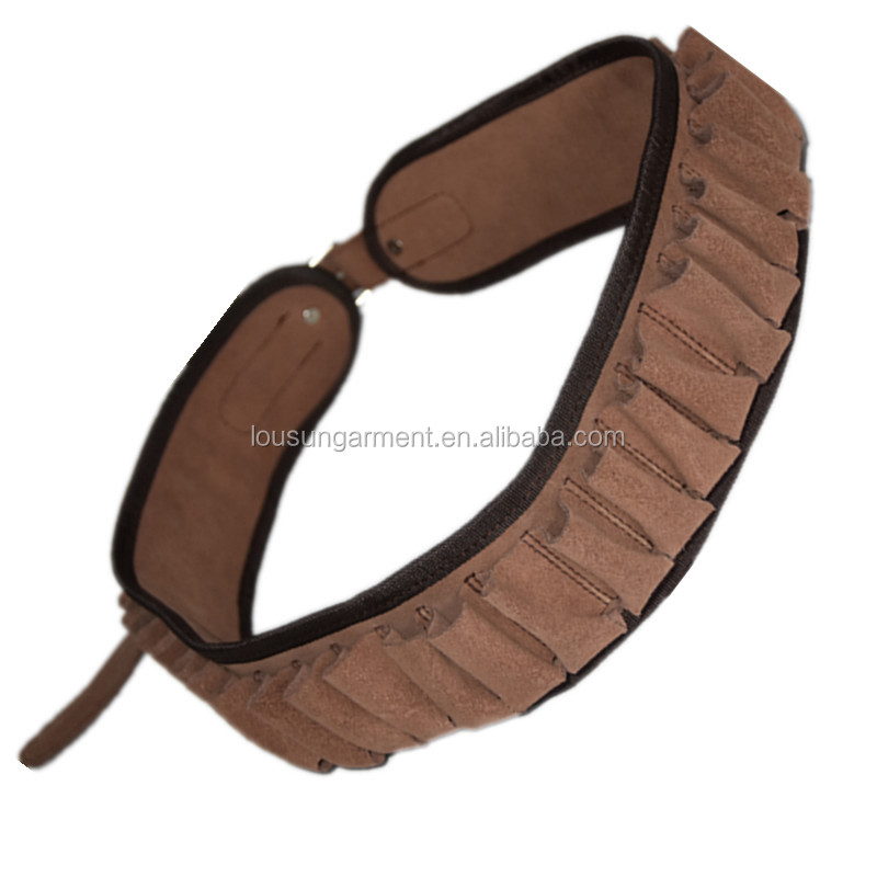 Leather Cartridge Belt with 25 Rounds