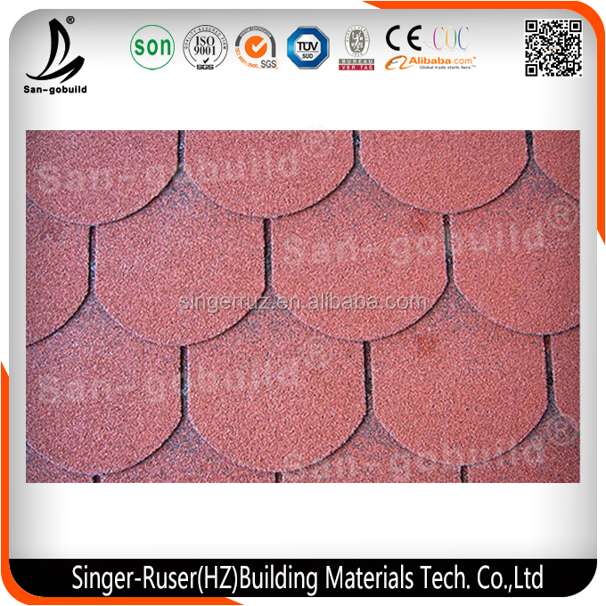 Different Colors of 3 Tab Asphalt Building Materials Roof Shingles Made in China