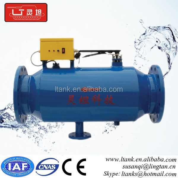 Radio frequency electronic water treatment for filtration and scale removal
