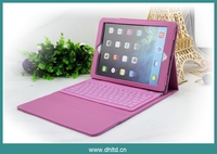 Leather case cover with bluethooth wireless keyboard for ipad 2