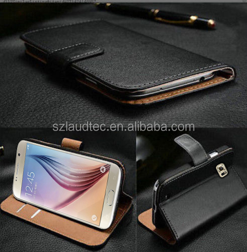 For Samsung Galaxy S7 Luxury Genuine Real Leather Wallet case cover shell,flip leather case for Samsung Galaxy S7