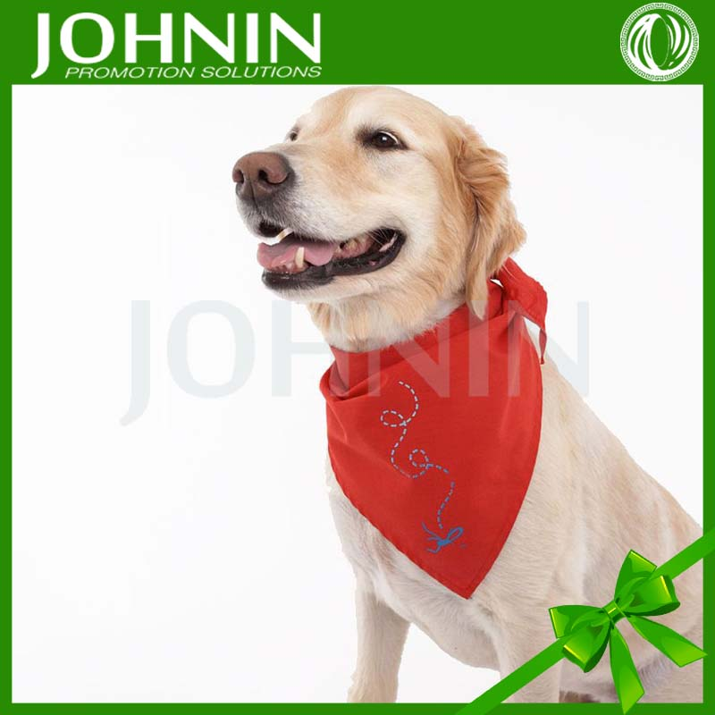 OEM custom logo design cotton polyester printed pet dog bandana