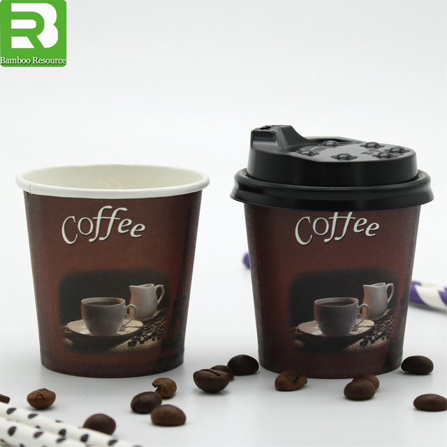 Customized printing Logo insulated biodegradable disposable single double wall coffee juice tea paper cups