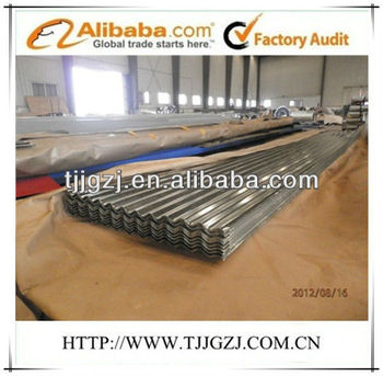 galvanized full hardness roofing/z-coating 80g corrugated steel roofing