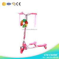 Wholesale foldable adjustable height mini kids kick scooter