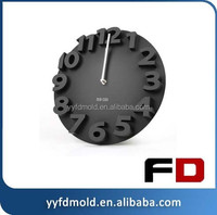 PC rounded wall clock back shell plastic injection mold
