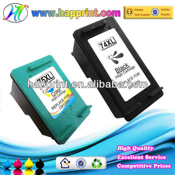 High quality rechargeable ink cartridge for HP 74 75 74XL 75XL ... ink cartridge recycling