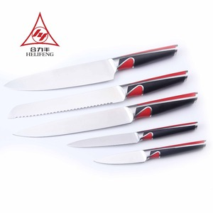High Class German Steel Available Kitchen Knife Set with Wooden Block