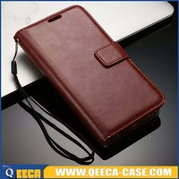 Leather Mobile Phone Case For iPhone // For Samsung Cell Phone Flip Case With Card Holder Manufacture