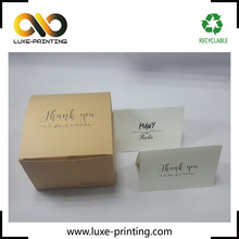 Classic AMAZON thank you card gum glue envelope with foldable box or corrugate material for shipping