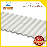 Light weight Blue plastic UPVC trapezoidal roof tiles use for exterior wall panel