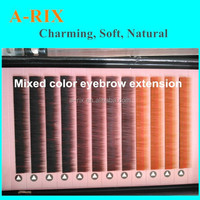 alibaba hot sale hand made mixed color private lable eyebrow extension