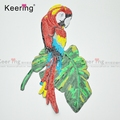 Bird parrot Large vivid Embroidery sequin Patch for T-shirt