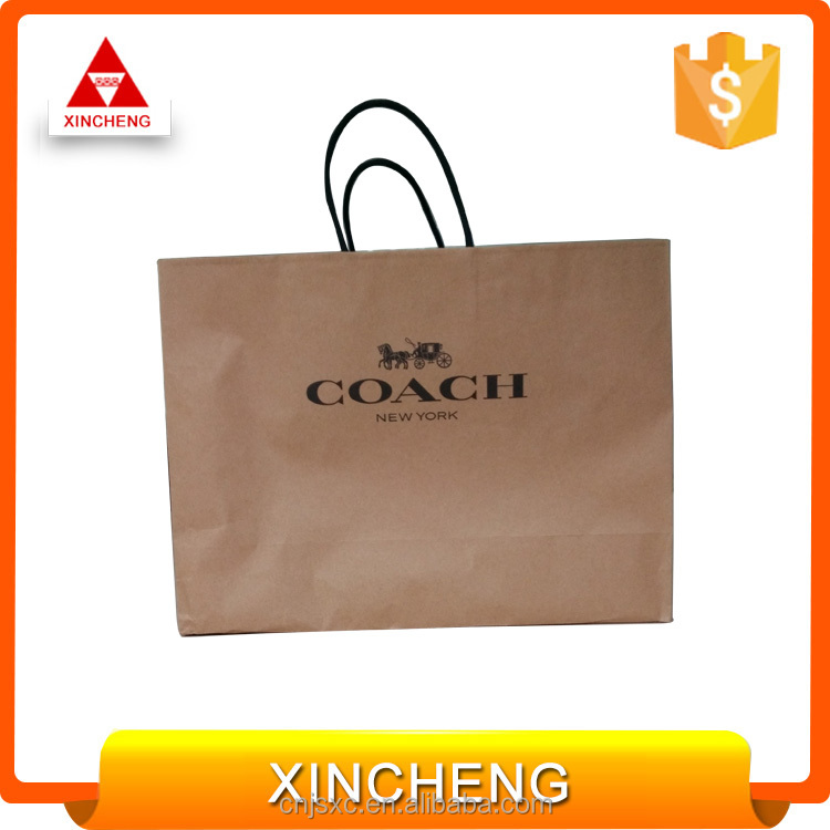 Hot selling good quality brown paper bag for grocery