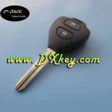 Good Price Original one key for Toyota Carola 2 button toyota car remote key with 4D67 chip and 315Mhz car key