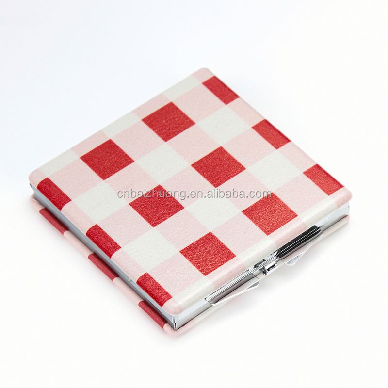 lighted mirror metal credit card holder sublimation blanks mirror