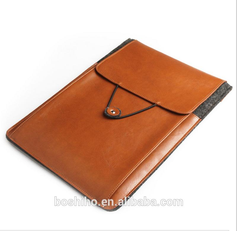 Customized design genuine leather tablet laptop portable case cover