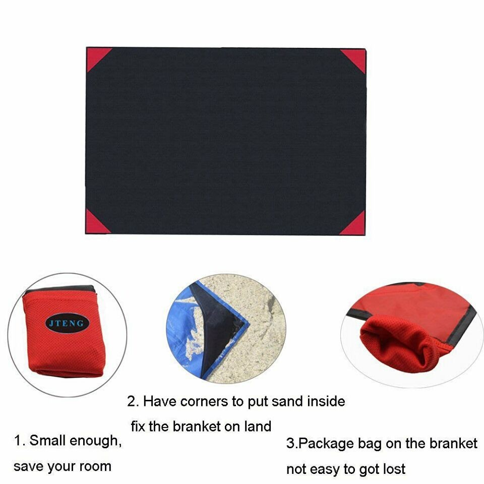2016 Hot Sell Waterproof Nylon Portable Picnic Blanket weighted Beach Blanket