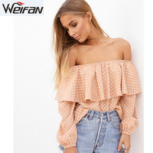 Alibaba Women clothing fashion women off shoulder tops and blouses