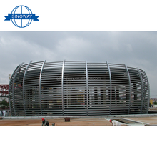 Top quality carbon steel Prefabricated Truss steel structure stadium