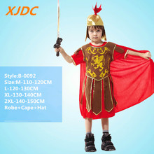 Hot sale cosplay warrior design children roman Halloween costume