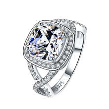 2016 new design! high quality 925 sterling silver jewelry engagement ring wedding for women KR1910S moonso jewelry