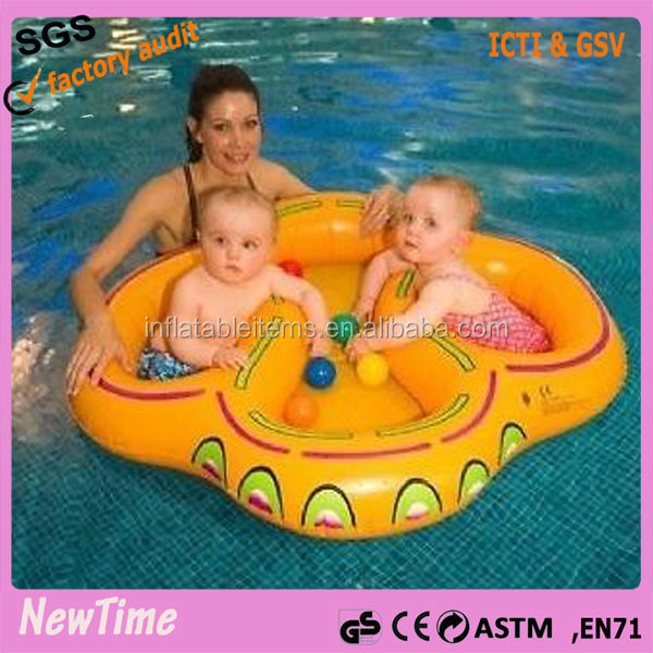 new inflatable twin baby double swim float seat