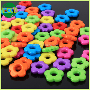 beautiful large plastic custom printed beads for DIY decoration