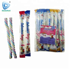 Halal fruity long twist marshmallow