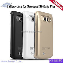 4200mAh rechargeable external battery case for Samsung S6 edge Plus