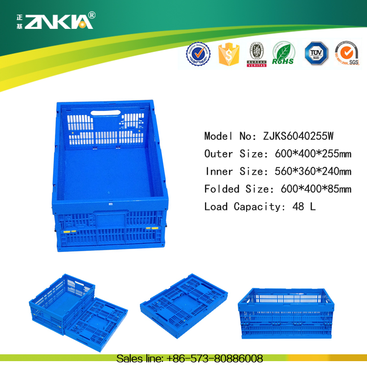 green eco-friendly fruits and vegetables plastic moving boxes plastic crate