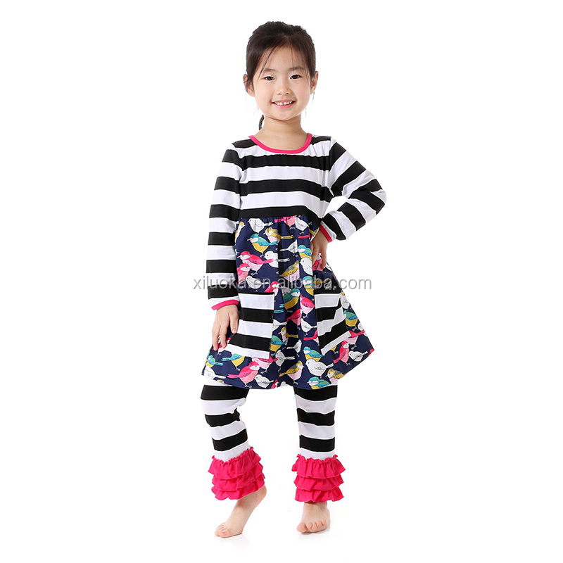 2016 autumn pinstripe suit newest School Fall Child Clothes Girls Outfits