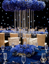 hot sale tall table top crystal chandelier centerpieces for wedding decoration