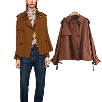 Z91098B 2017 Newest European fashion sexy casual design stylish short style ancient loose coat for sexy women