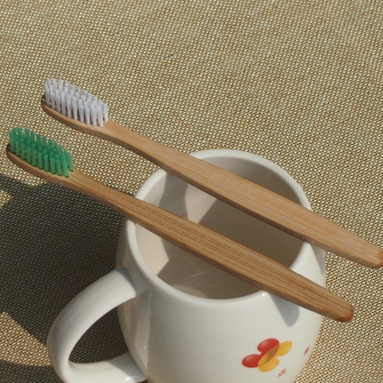 wood toothbrush emergency dental care nylon bristle bamboo toothbrushes