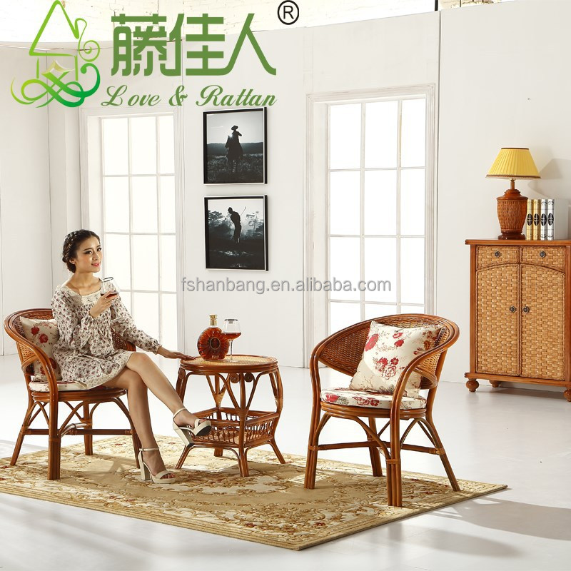 Hotsale Rattan Cane Wood Living Room bentwood chairs and tables Set