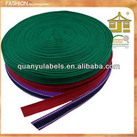 Delicate flat custom one direction ribbon woven printed elastic webbing