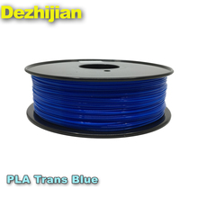 1.75mm 3d printer filament plastic rod Transparent Blue 3mm