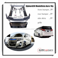 NEW Arrival !! Body kits for toyota alphard30 modellista aero style 2016year PP front bumper and rear diffuser