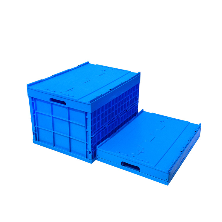 180L heavy duty plastic moving crates with lid