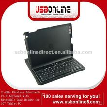 "2.4GHz Wireless Bluetooth V2.0 Keyboard with Rotatable Case Holder for 10"" Tablet PC"