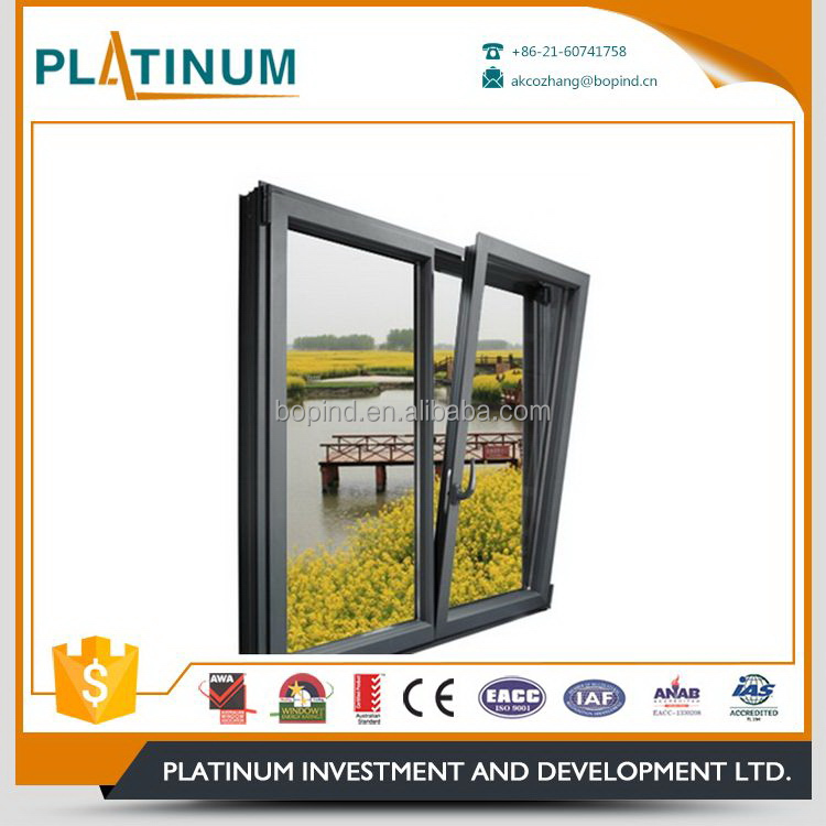 Wholesale high quality latest home aluminum tilt and turn windows