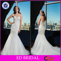 Mermaid Off Shoulder Heart Shaped Wedding Dresses By Crystal Trade Co. Ltd(ED197)